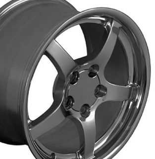 "17"" Polished Wheels Rims Fit C4 C5 1988 2004 Corvette"