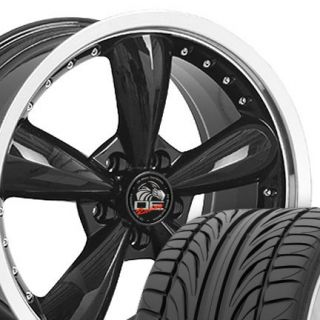 "20"" Black Bullitt Bullet Wheels Falken Tires Rims Fit Mustang® GT 05 Up"