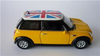 New Boys Toy Diecast Yellow BMW Mini Cooper s Car Model Stocking Filler Present