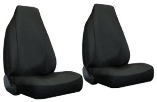 Black Faux Leather High Back Bucket Car Truck SUV Seat Covers 4 Piece Pkg X