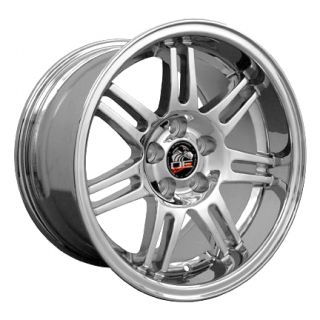 1 Deep Dish Rim 17 x10 Wheels Rims Chrome Fit Mustang®