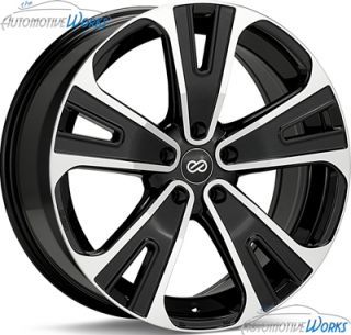 18x8 Enkei SVX 5x127 5x5 50mm Black Machined Rims Wheels inch 18""
