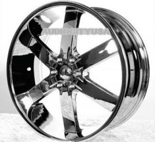"26"" AC55 CH Wheels and Tires Rims for Chevy Tahoe Escalade Silverado RAM Yukon"