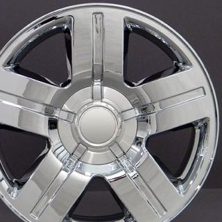 "22"" Texas Wheels Chrome 22x9 Rims Fit Chevrolet GMC Cadillac"