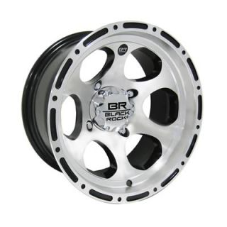 "Black Rock Revo ATV Silver Wheel 12""x7"" 4x137mm 100M273643"