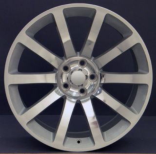 "20"" Silver 300 SRT Wheels 20x9 Rim Fits Chrysler Set"