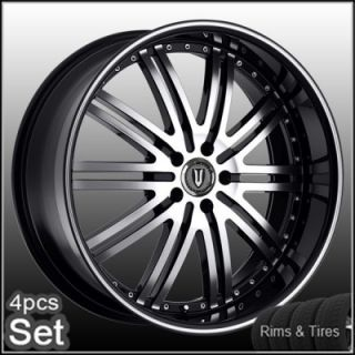 "20"" D1 Chrome Wheels and Tires Pkg for Lexus Impala Honda Auio Jaguar Rims"