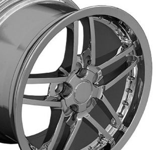"18"" Chrome Corvette C6 Z06 Style Deep Dish Wheels Rims Fit Chevrolet Camaro"