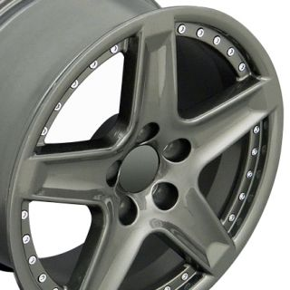 "17"" TL Rivet Wheels Gunmetal Set of 4 Rims Fits Acura"