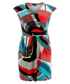 Lovedrobe Blue Abstract Print Dress