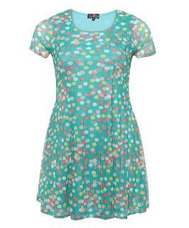 Lovedrobe Blue Polka Dot Dress