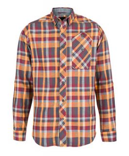 Bench Brown Large Check Long Sleeve Shirt