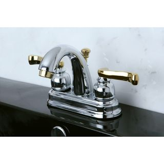 French Lever Classic Chrome/ Polished Brass Bathroom Faucet Bathroom Faucets