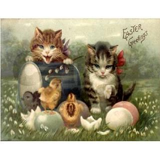Vintage Easter Note Cards (Pk of 10) by missingnebraska