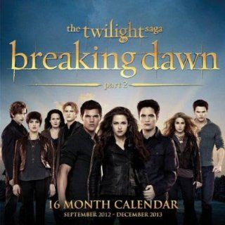 Twilight Breaking Dawn Part 2 Calendar 2013 16 Month Toys & Games