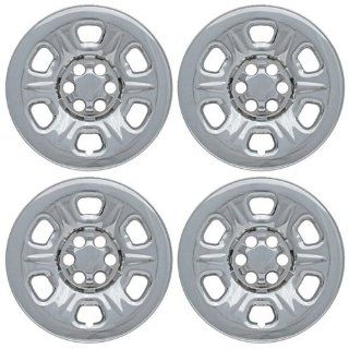 Set of 4 Chrome Wheel Skin Hub Covers With Center For 17x7 Inch 6 Lug Steel Rim   Part Number IWCIMP/69X Automotive