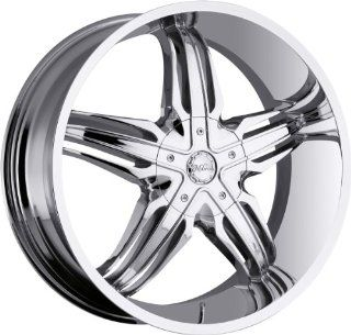 Milanni Phoenix 28 Chrome Wheel / Rim 8x6.5 with a 10mm Offset and a 130.8 Hub Bore. Partnumber 458 28981C10 Automotive