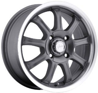 Vision 9X 17 Gunmetal Wheel / Rim 4x100 & 4x4.5 with a +42 mm Offset and a 74 Hub Bore. Partnumber 424 7703GM42 Automotive