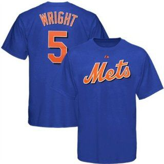 David Wright New York Mets YOUTH Blue Name and Number T Shirt by Majestic Size Small  Sports & Outdoors