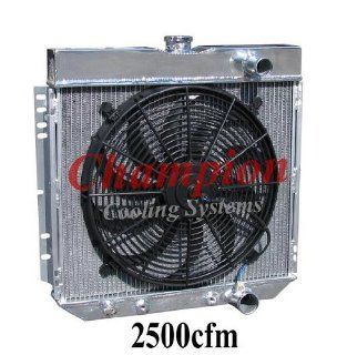 "3 Row All Aluminum Replacement Radiator AND 16"" Reversible Fan for 1967 70 Ford Mustang, 1963 69 Ford Fairlane, 1966 70 Ford Falcon, 1964 68 Ford Galaxie, 1964 68 Ford Country Sedan or Squire, 1967 68 Ford LTD, 1968 69 Ford Torino, 1967 68 Mercury Cou"