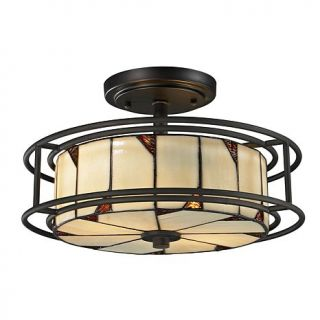 Dale Tiffany Woodbury Semi Flush, Ceiling Mounted Lamp
