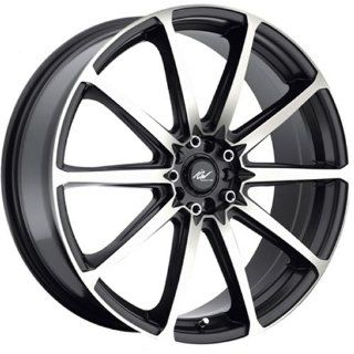 ICW Banshee 20 Machined Black Wheel / Rim 5x100 & 5x4.5 with a 45mm Offset and a 73 Hub Bore. Partnumber 215MB 2751845 Automotive