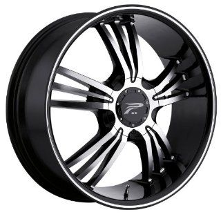 Platinum Wolverine 18 Black Wheel / Rim 5x4.5 & 5x120 with a 38mm Offset and a 74 Hub Bore. Partnumber 122 8807B+38 Automotive