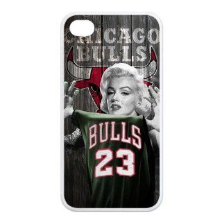Marilyn Monroe Wear NBA Chicago Bulls Michael Jordan Number 23 Jersey Protective Waterproof Rubber(TPU) Apple iPhone 4 4s Case Cover,Top iPhone 4 4s Case from Good luck to Cell Phones & Accessories