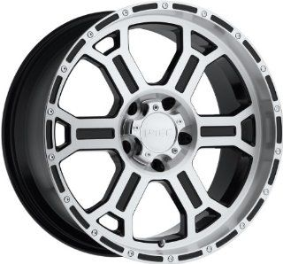 V Tec Raptor 17 Machined Black Wheel / Rim 6x135 with a 25mm Offset and a 87.1 Hub Bore. Partnumber 372 7936GBMF25 Automotive