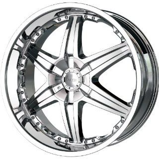 Dip Wicked 26 Chrome Wheel / Rim 5x4.75 & 5x5 with a 18mm Offset and a 78.3 Hub Bore. Partnumber D39 26955C Automotive