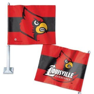 "Louisville Cardinals Official NCAA 14"" Car Flag  Sports Fan Automotive Flags  Sports & Outdoors"