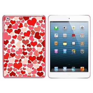Lots of Hearts   Love Romantic Snap On Hard Protective Case for Apple iPad Mini   Pink Computers & Accessories