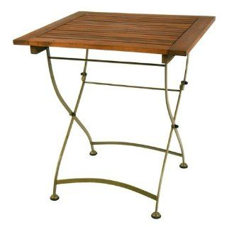 River Cottage Gardens Tommy Square Folding Table  Patio Side Tables  Patio, Lawn & Garden