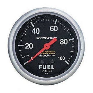 Auto Meter 3363 Sport Comp Electric Fuel Pressure Gauge Automotive