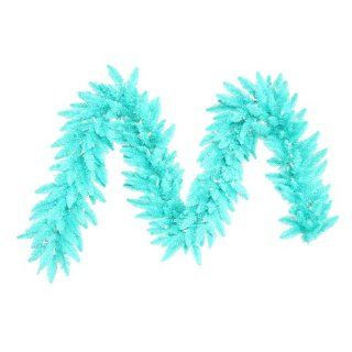 "9' x 14"" Pre Lit Aqua Blue Fir Artificial Christmas Garland   Aqua Lights"