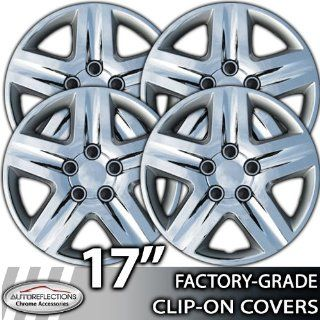 "2010 2011 Toyota Camry 17"" Chrome Clip On Hubcaps Automotive"