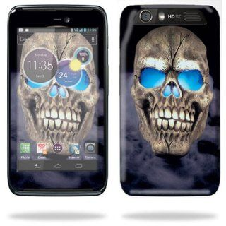 Protective Skin Decal Cover for Motorola Atrix HD Cell Phone AT&T Sticker Skins Psycho Skull Cell Phones & Accessories