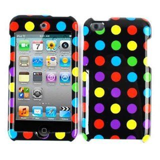 Apple IPod ITouch 4 Polka Dots Case Cover Faceplate Snap On Hard Housing Skin Cell Phones & Accessories