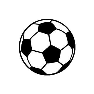 "Soccer Ball small 3"" Tall BLACK vinyl window decal sticker"" Automotive"