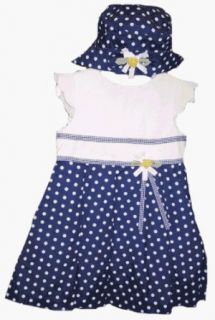 Little Bitty Navy Polka Dot Dress for Toddler Girls Clothing