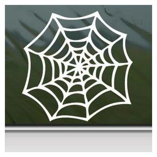 Spider Web White Sticker Decal Car Window Wall Macbook Notebook Laptop Sticker Decal   Decorative Wall Appliques