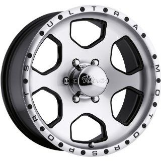 Ultra Rouge 17x8 Machined Black Wheel / Rim 6x5.5 with a 10mm Offset and a 108.00 Hub Bore. Partnumber 175 7883U Automotive