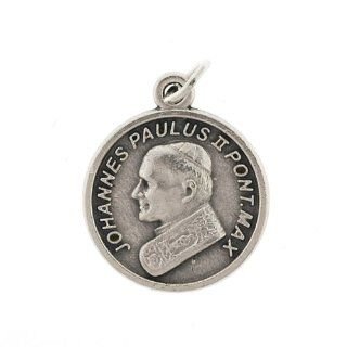 Small Crucifix   Medal   Pope John Paul ii   3/4in. Height   IMPORTED FROM ITALY Jewelry