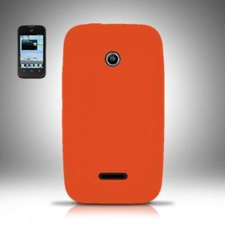 HUAWEI INSPIRA H867G SOLID ORANGE SILICONE RUBBER SKIN COVER SOFT GEL CASE from [ACCESSORY ARENA] Cell Phones & Accessories