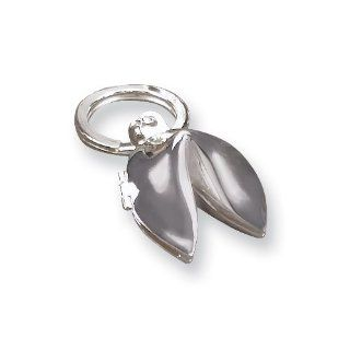 Silver plated Fortune Cookie Key Ring Jewelry