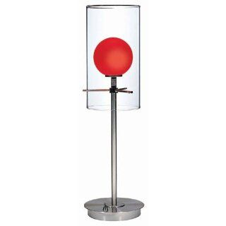 Lite Source LS 2149PS RED Burst Double Glass Table Lamp
