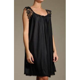 Amanda Rich Lace Cap Sleeve Knee Length Nightgown (106) Clothing