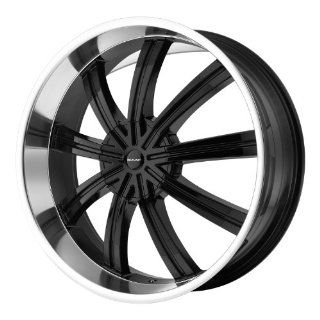 20x8.5 KMC Widow (Gloss Black Machined) Wheels/Rims 5x114.3/127 (KM67228554338) Automotive