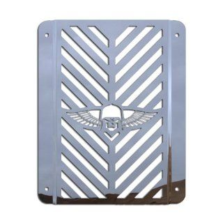 Ferreus Industries   Kawasaki Vulcan 800 VN800 Combat Skull Polished Stainless Radiator Grille   GRL 116 07 Automotive