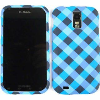 ACCESSORY MATTE COVER HARD CASE FOR SAMSUNG GALAXY S II HERCULES T989 BLUE BLACK PLAID Cell Phones & Accessories